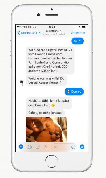 Abbildung Smartphone mit Chatverlauf